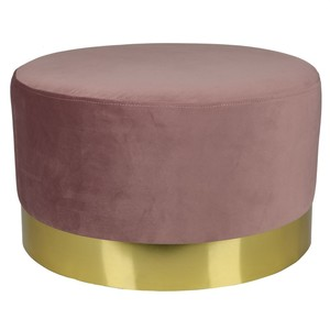 Design-Hocker rund, 55cm, rosa