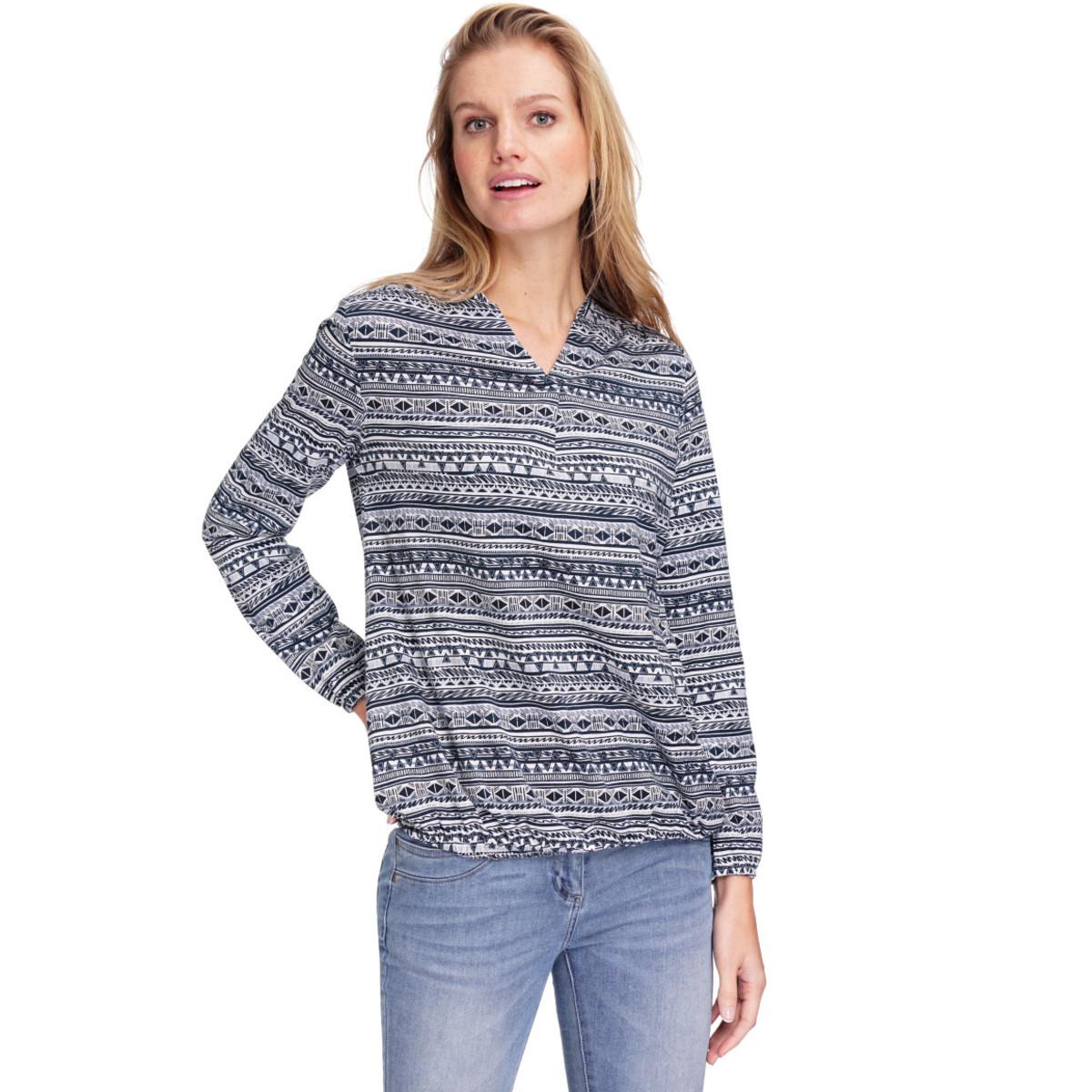 Bild 2 von Damen Langarmshirt mit Allover-Muster