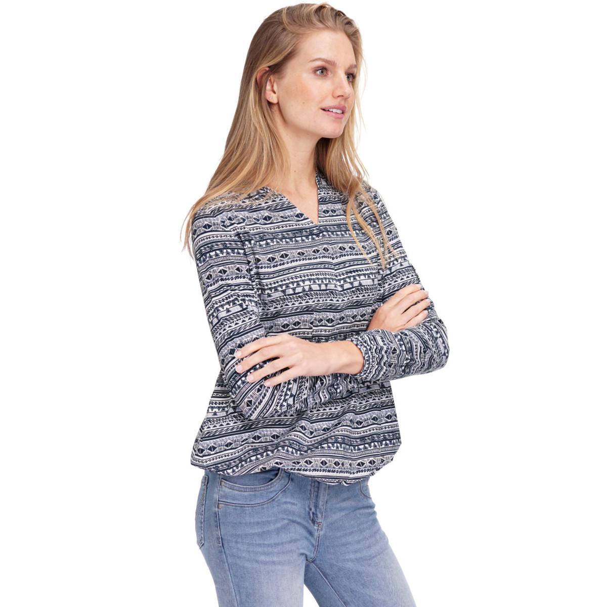 Bild 3 von Damen Langarmshirt mit Allover-Muster