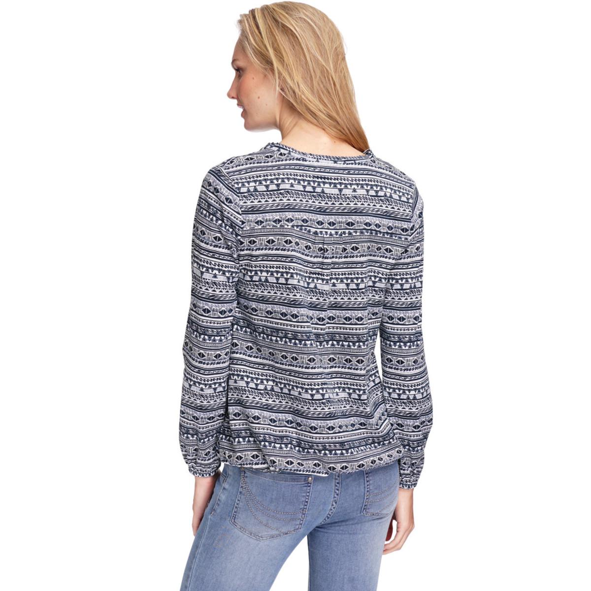 Bild 4 von Damen Langarmshirt mit Allover-Muster