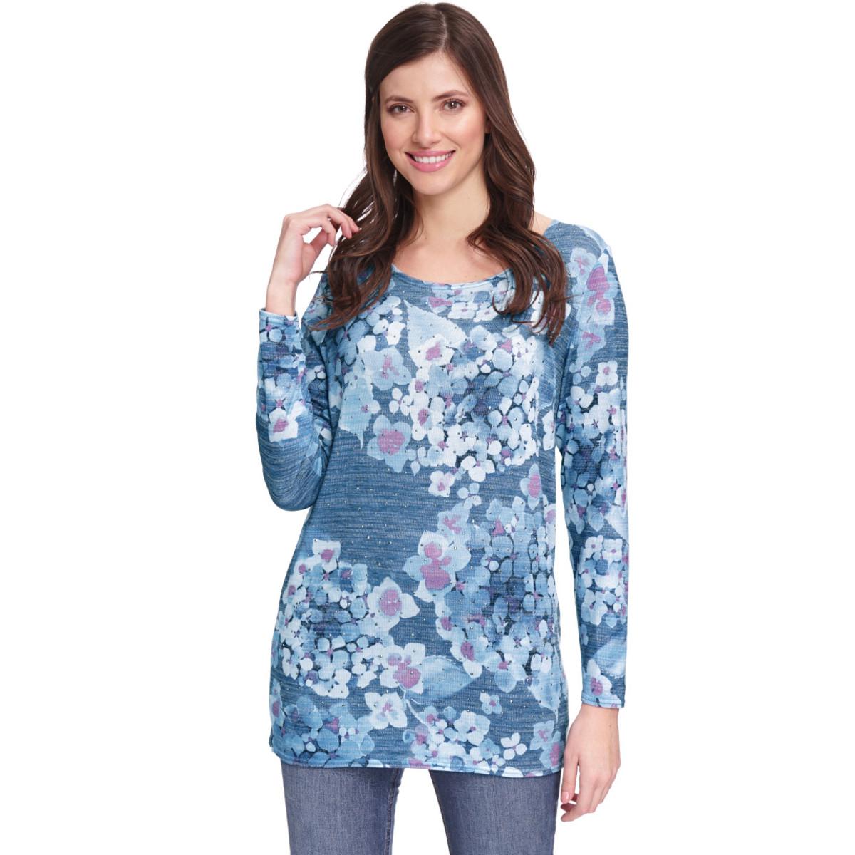 Bild 2 von Damen Pullover mit Ziersteinchen