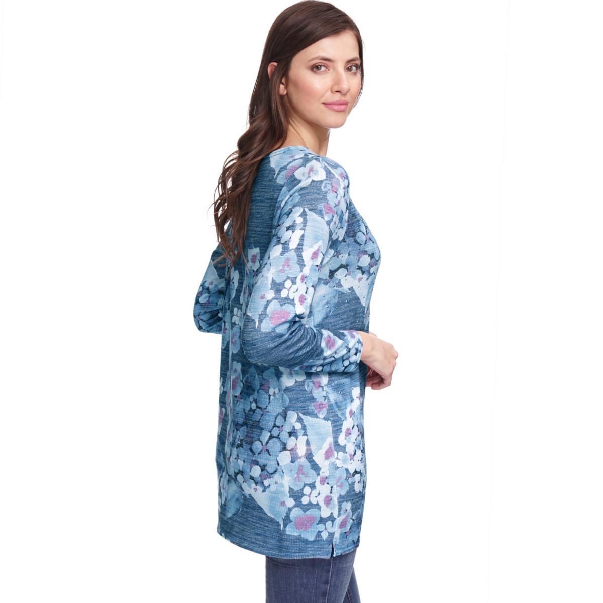 Bild 4 von Damen Pullover mit Ziersteinchen