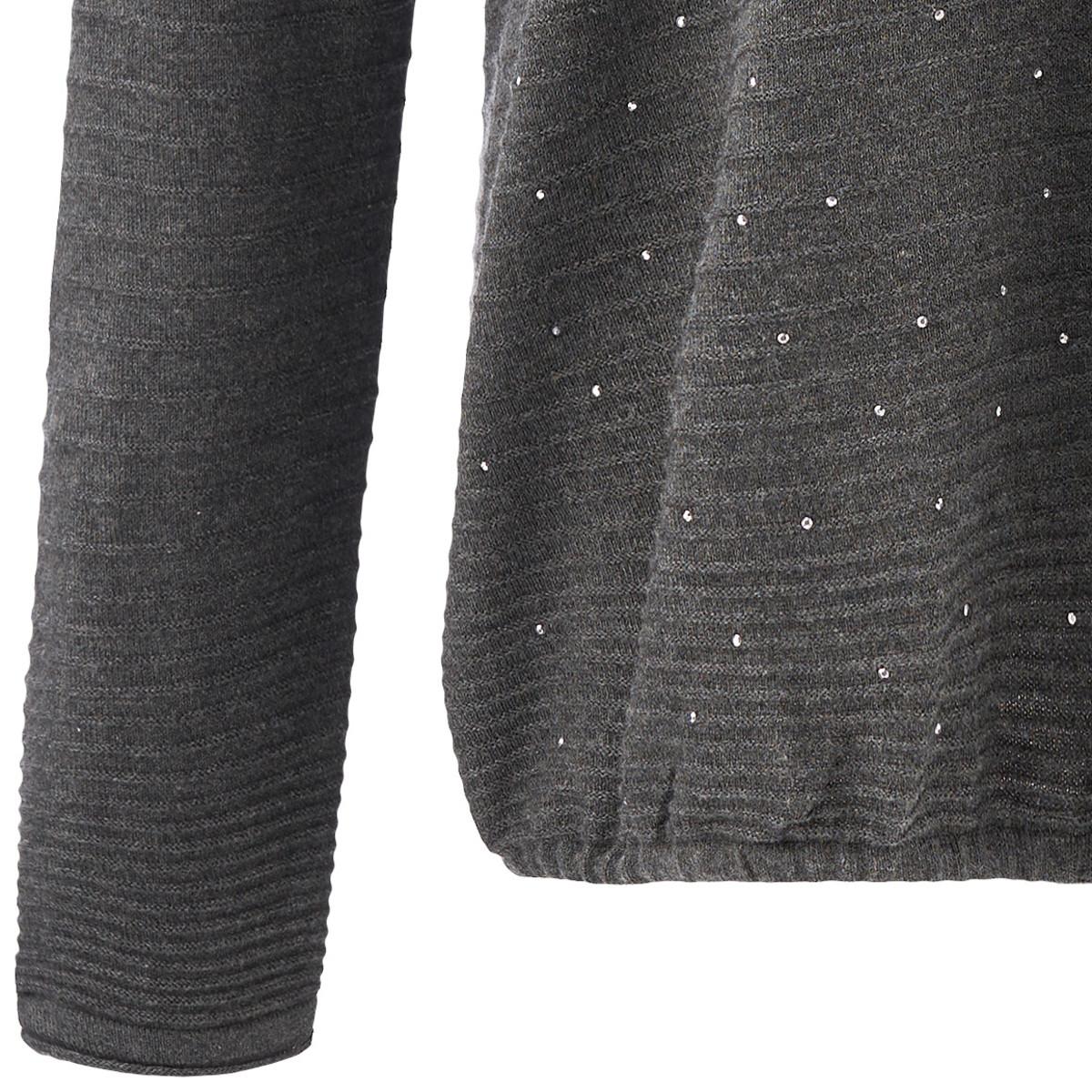 Bild 5 von Damen Pullover mit Ziersteinchen