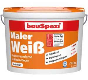 bauSpezi MalerWeiß Farbe 10 L
