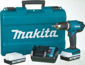 makita Li-Ion Akku-Schlagbohrschrauber HP457DWE 18 V inkl. 2. Akku