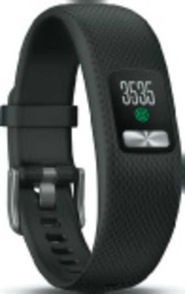 GARMIN Fitness-Armband Vivofit 4 Gr. L Fitness-Tracker mit Farbdisplay