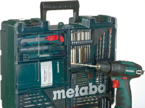 metabo Akku-Schlagbohrmaschine PowerMaxx SB Basic-Set 10,8 V