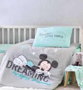 Minnie oder Mickey Mouse Baby Wendebettwäsche