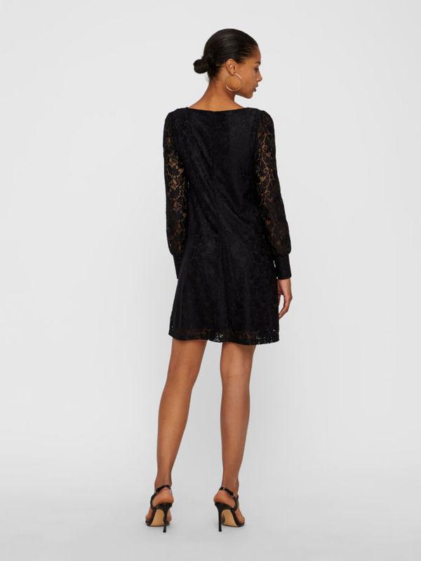 spitzen- kleid mit langen Ärmeln von vero moda ansehen!