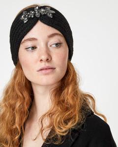 Strick-Stirnband mit Schmucksteinen