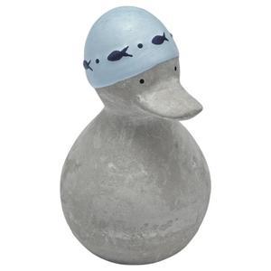 IDEENWELT Zement-Ente hellblau