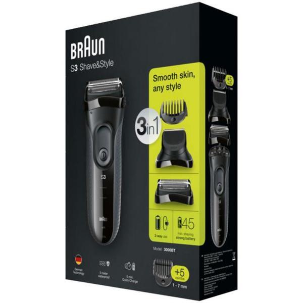 Braun Series 3 Shave & Style elektrischer Rasierer 3000BT