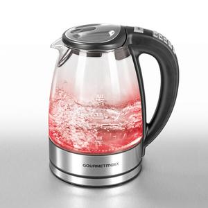 GOURMETmaxx Glas-Wasserkocher mit LED/Temperaturauswahl