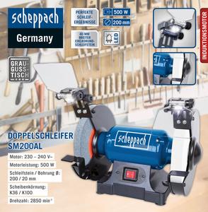 Scheppach Doppelschleifer SM200AL