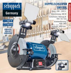 Scheppach Doppelschleifer SM150L