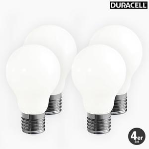 Duracell LED Vollglas Leuchtmittel A-Shape, 7W, 4er Pack