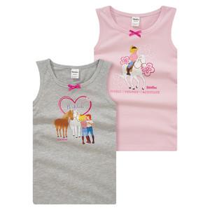 2 Bibi & Tina Unterhemden mit Print
