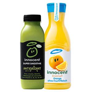 innocent Super Smoothie oder Direktsaft, gekühlt versch. Sorten, jede 360/900-ml-Flasche