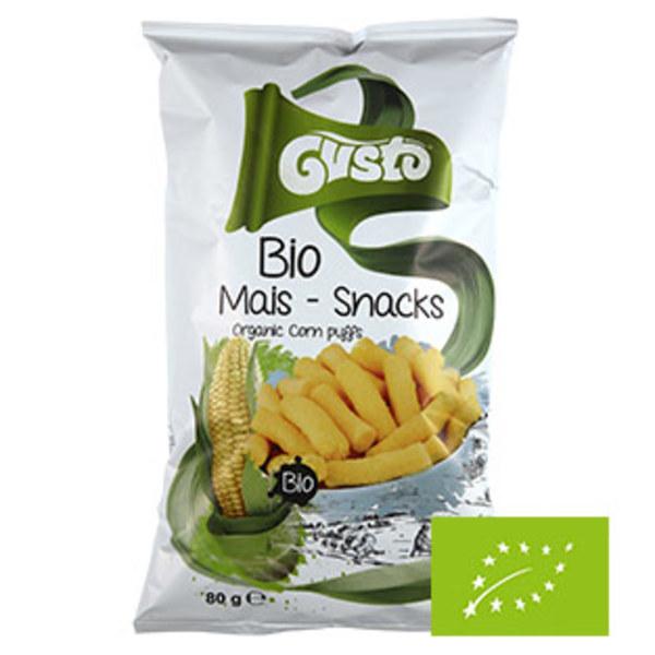 Gusto Bio-Pufuleti Mais-Snack Classic oder mit Apfel jeder 80/60-g-Beutel