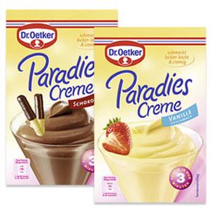 Dr. Oetker Paradies-Creme Vanille jede 60-g-Packung und weitere Sorten