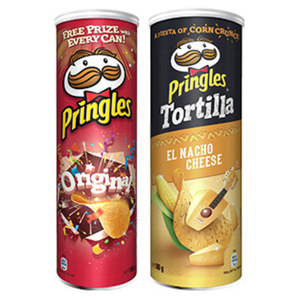 Pringles oder Tortilla Chips versch. Sorten,   jede 180/190-g-Dose