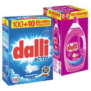 Dalli Waschmittel 100+10 Waschladungen, versch. Sorten, jede Packung