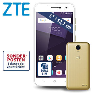Smartphone Blade™ L7A · 2 Kameras (2 MP/5 MP) · 1-GB-RAM, 16-GB-Speicher · microSD™-Slot bis zu 128 GB · nanoSIM · Android™ 7.0