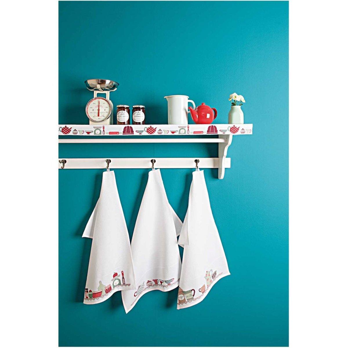 Bild 2 von Rico Design Stickpackung Geschirrtuch Teekanne 50x75cm
