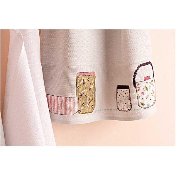 Rico Design Stickpackung Geschirrtuch Geschirr