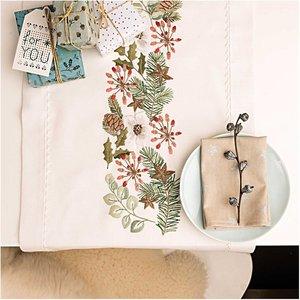 Rico Design Stickpackung Läufer Weihnachtsranke 40x150cm