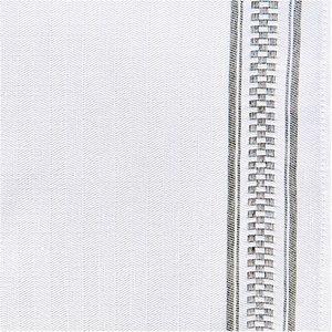 Rico Design Geschirrtuch weiß mit braunem Rand 50x75cm