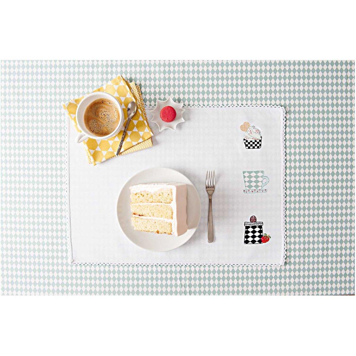 Bild 2 von Rico Design Stickpackung Platzset Geschirr