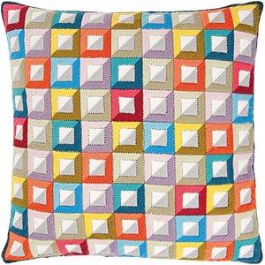 Rico Design Gobelin Kissen Quadrate groß 40x40cm zum Sticken