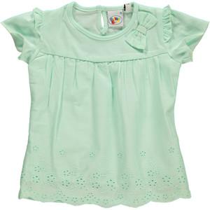 Baby Mädchen Bluse mit Lochstickerei