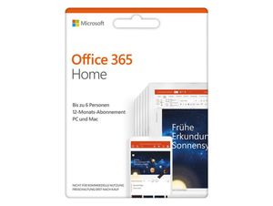 Microsoft Office 365 Home, 1-Jahres-Software-Lizenz, Key Card