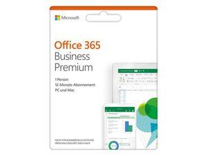 Microsoft Office 365 Business Premium, 1-Jahres-Software-Lizenz, Key Card
