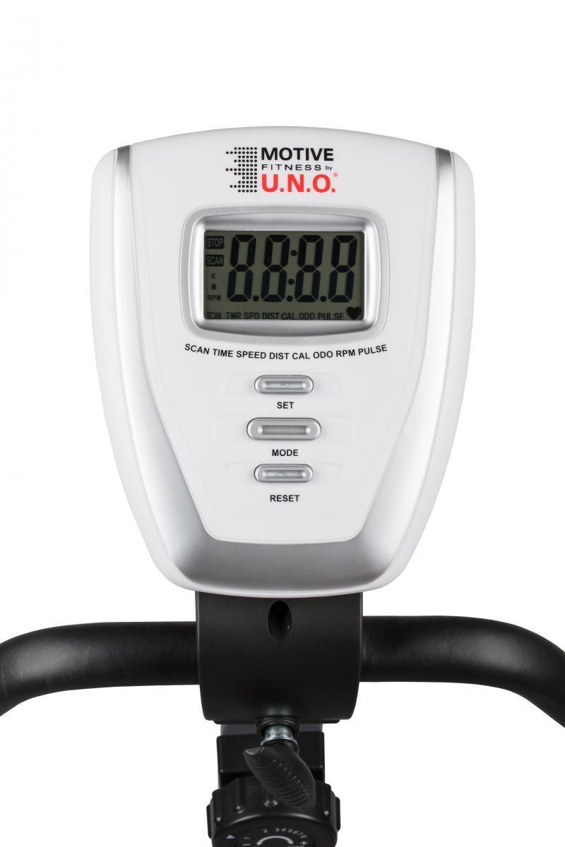 Bild 2 von MOTIVE Fitness by U.N.O. Heimtrainer HT 400 weiß-schwarz inkl. Schutzmatte