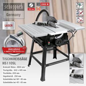 Scheppach Tischkreissäge HS110SL