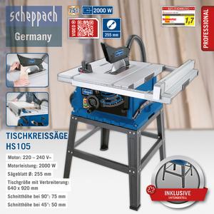 Scheppach Tischkreissäge HS105