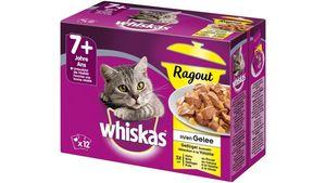 Whiskas® Portionsbeutel 7+ Ragout Geflügelauswahl in Gelee 12X85G