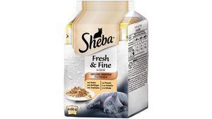 Sheba Katzennassfutter Fresh & Fine in Gelee Geflügel Variation Multipack