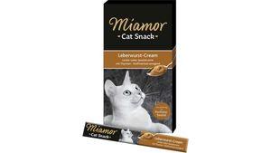 Miamor Katzensnack Leberwurst-Cream 6x15g