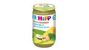 HiPP Menüs ab 12.Monat - Pasta Bambini - Tagliatelle in Spinat-Käse-Sauce