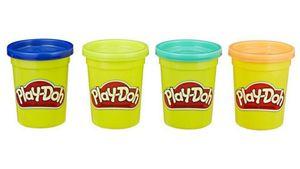 Hasbro - Play-Doh 4er Pack hellblau, hellgrün, pink und lila