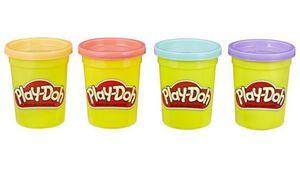 Hasbro - Play-Doh 4er Pack blau, orange, türkis, gelb