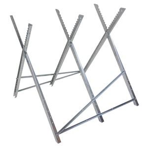 Sägebock 3 teilig aus Metall höhenverstellbar