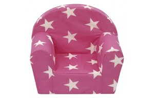 Kindersessel Laura pink Sterne