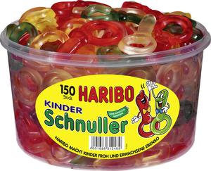 Haribo Kinder Schnuller, Gummibärchen, Weingummi, Fruchtgummi, 150 Stück, 1200g Dose