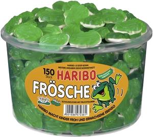 Haribo Frösche, Gummibärchen, Weingummi, Fruchtgummi, 150 Stück, 1050g Dose