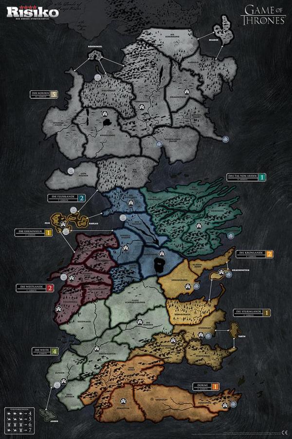 Karte Westeros Essos Deutsch.Risiko Game Of Thrones Got Collector S Limitierte Deluxe Edition Spiel Brettspiel Deutsch